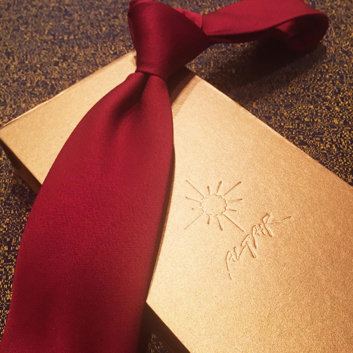 プレゼント,ネクタイ,赤,ネイビー,,シルク,ギフトボックス,高級