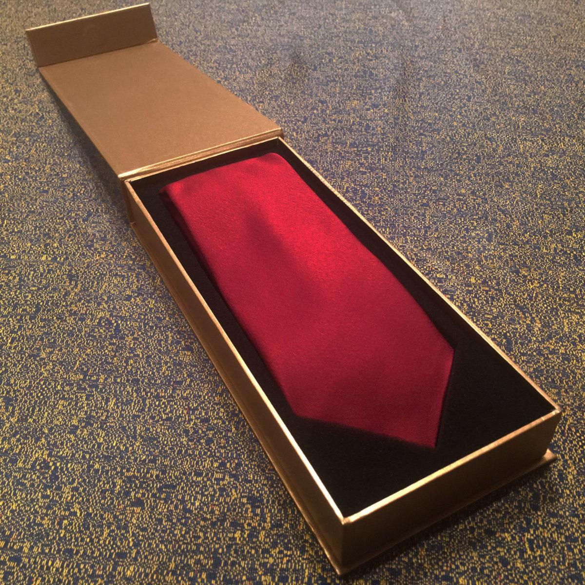プレゼント,ネクタイ,赤,シルク,ギフトボックス
